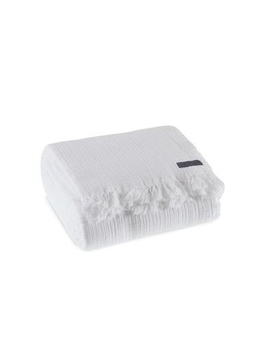 Penelope Soflin Müslin Yatak Örtüsü 240x220 Beyaz